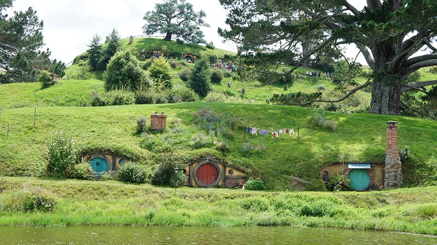 Hobbiton - Plan filmowy Hobbita iWładcy Pierścieni