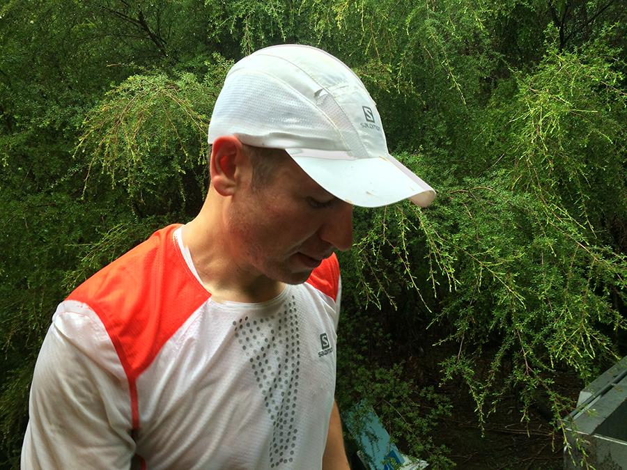 Krystian podczas biegu napunkcie Tarawera Falls