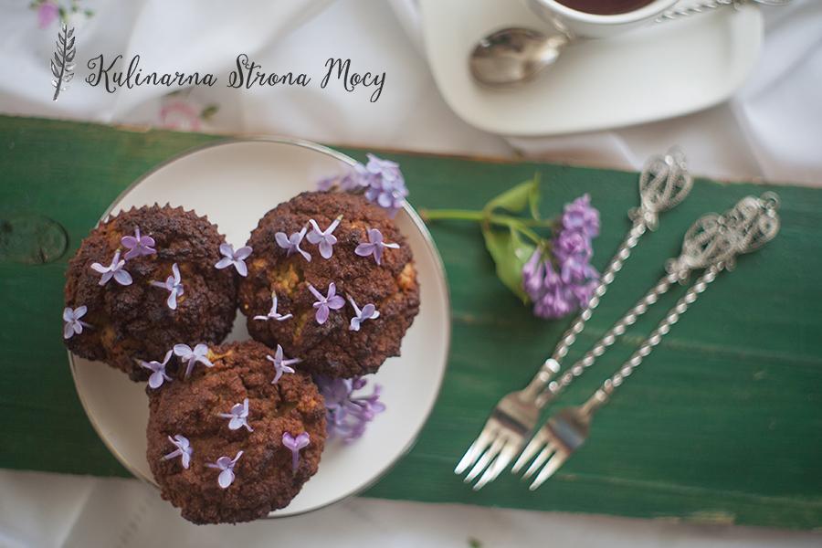bezglutenowe muffiny z rabarbarem, muffiny bezglutenowe, rabarbar
