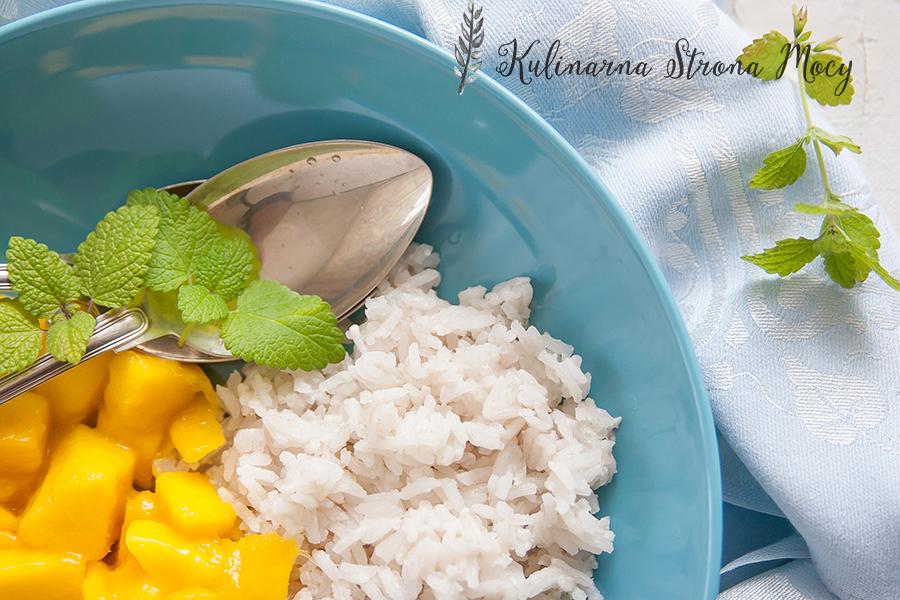 ryż na mleku kokosowym z mango