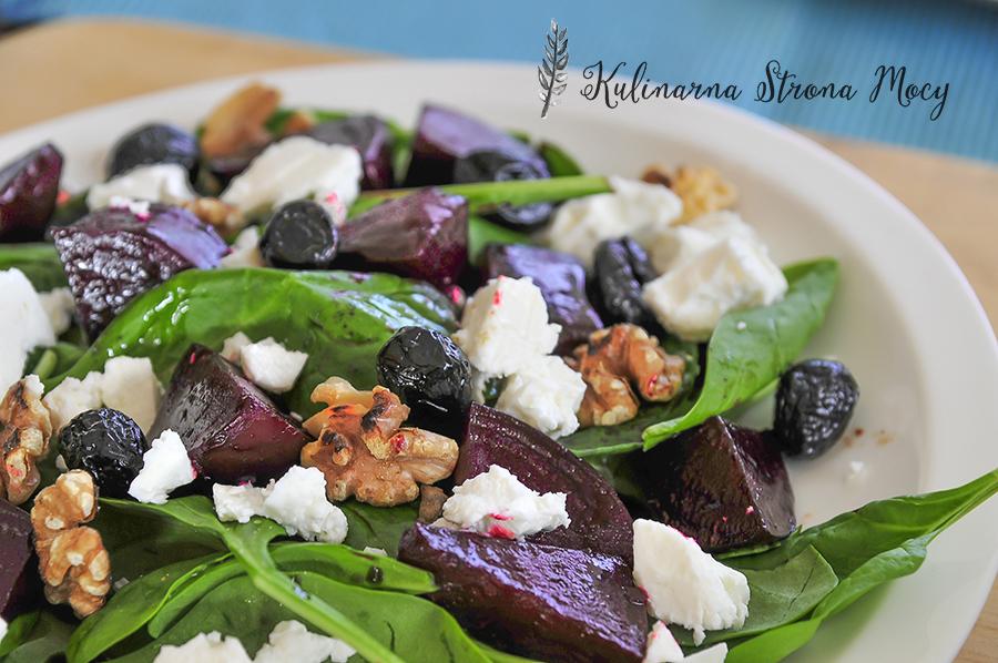 salatka-ze-szpinaku-i-karmelizowanych-burakow