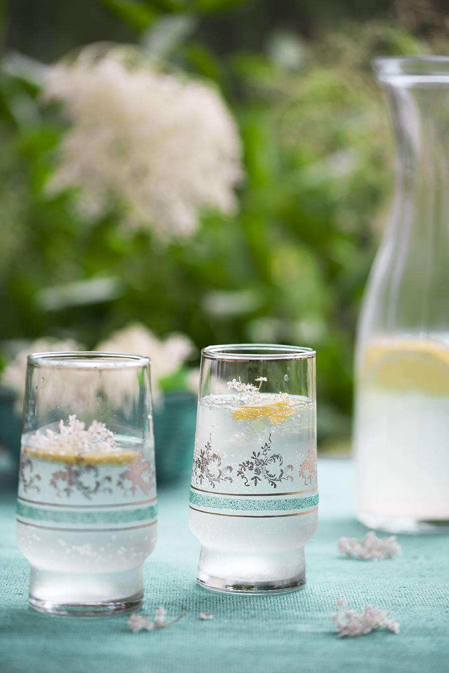 lemoniada z kwiatów czarnego bzu, lemoniada, czarny bez, ogród
