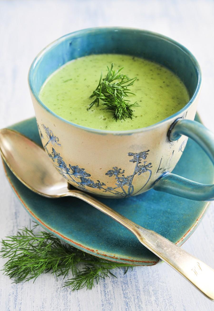 zupa z zielonych ogórków, zielone ogórki, zupa, ogórki gruntowe, zupa, letnia zupa