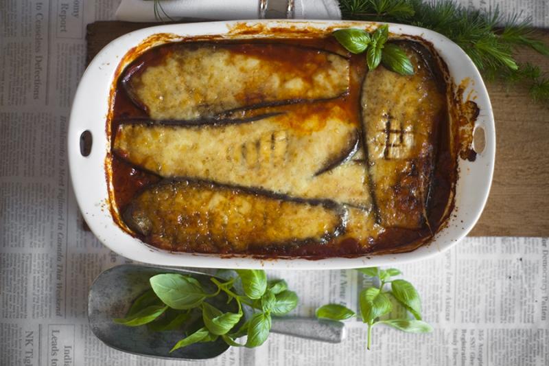lasagne z bakłażana, lasagne, bakłażan, lasagne bezglutenowa
