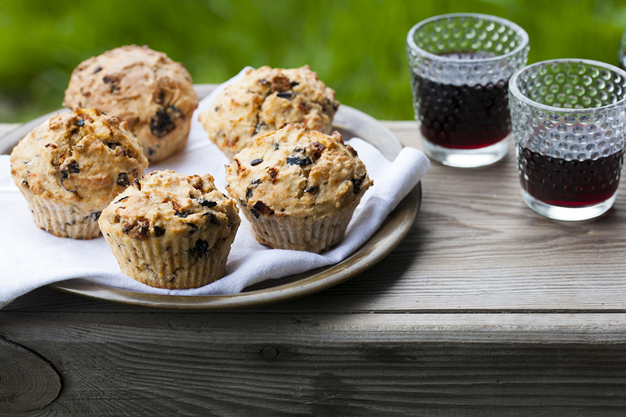 muffiny śródziemnomorskie, muffiny wytrawne, muffiny na słono