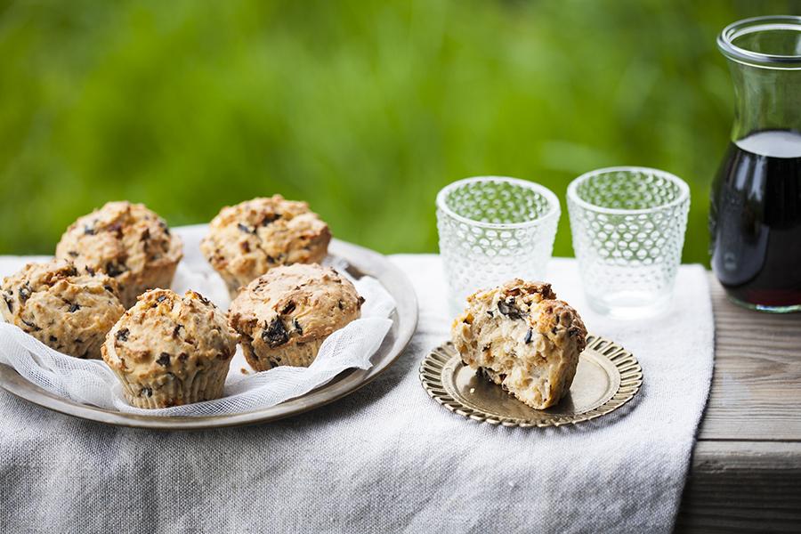 muffiny śródziemnomorskie, muffiny wytrawne, muffiny nasłono