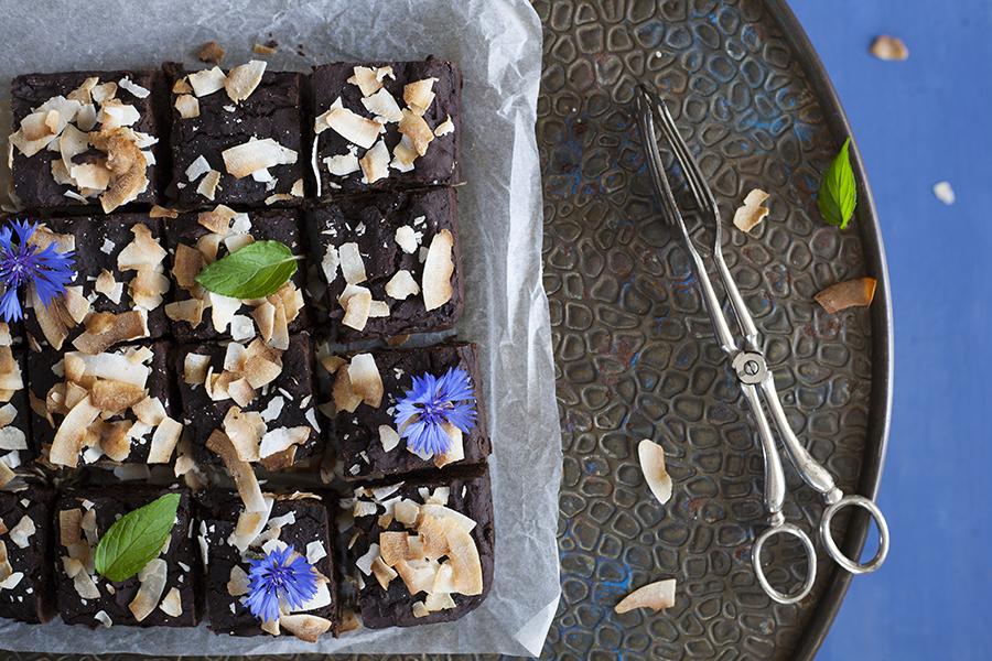 brownie z czarnej fasoli, brownie, ciasto zdrowe brownie, zdrowe ciasto