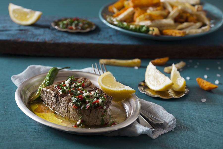 stek z tuńczyka, stek, tuńczyk, ryba