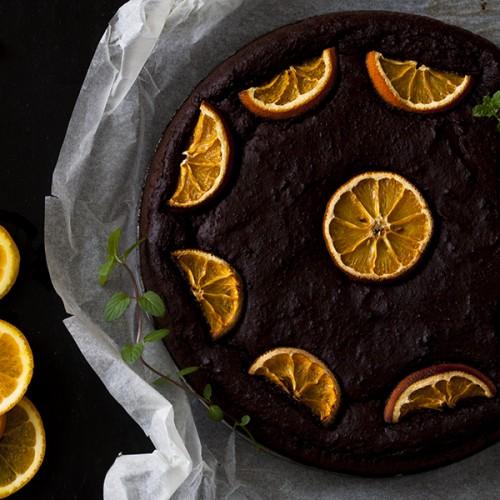 pomarańczowe brownie, brownie