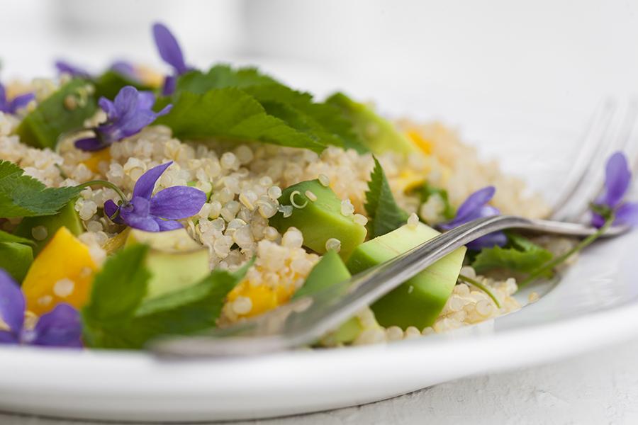 quinoa zfiołkami